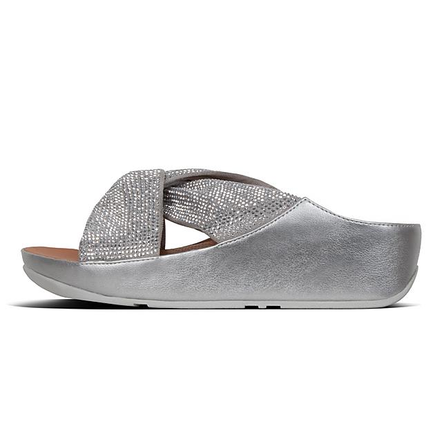 e822f81b3e27 Fitflop Twiss Crystal Sandals (Silver Synthetic) - Regal Shoes