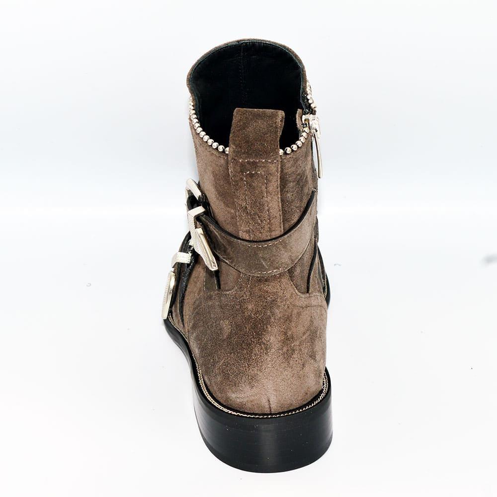 Evaluna 1871 Ankle Boots (Brown Suede)
